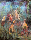 Enhver fugl synger med sit eget næb  (80 x 100) Solgt