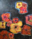 Flyvende blomster (80 x 100) 4500 kr